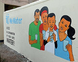 "talking Wall ""we water"" in Kenya"